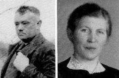 1928 Josef Schulze Hobeling (1884 - 1967) und Theresia Schulte Bisping geb. Revering (1891 - 1927)  Hofstaat: Max und Antonia Sch. Althoff geb. Hartmann, Anton Sch. Bisping und Katharina Sch. Hobeling geb. Lütke Schwienhorst.