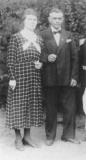 1936 Josef Haselhorst (1894 - 1954) und Maria Rottwinkel geb. Schulte (1902 - 1987)  Hofstaat: Heinrich Rottwinkel und Maria Haselhorst, Bernhard und Bernhardine Wemmer geb. Kleimann