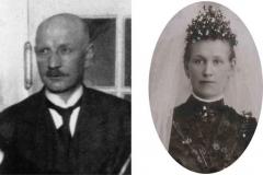 1900 Wilhelm Riemann (1878 - 1952) und Anna Riemann verh. Keller (1875 - 1936)