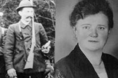 1929 Franz Schulze Wickensack (1874 - 1954) und Katharina Schulze Hobeling geb. Lütke Schwienhorst (1889 - 1961)  Hofstaat: Heinrich Hobeling und Antonia Sch. Wickensack verh. Große Lembeck, Anton und Helene Kintrup sowie Josef Brungert und Klärchen Brungert verh. Nünning.
