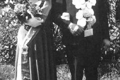 1953 Alois Riemann (1913 - 2007) und Paula Riemann geb. Holtmann (1916 - 2013)  Hofstaat: Josef und Maria Peters, Hubert und Maria Greshake.