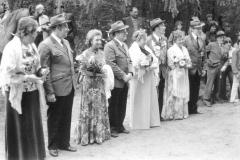1977 Ewald Kortenjan und Elisabeth Kortenjan geb. Lütke Dartmann  Hofstaat: Anton und Ellen Sielenkemper, Ferdi und Anneliese Alfermann.