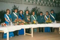1983 Heinz Rottwinkel und Maria Rottwinkel geb. Schulte  Hofstaat (v.l.): Hans und Irmgard Schulte, Bernd und Marlene Heitmann.