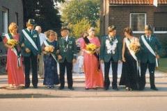 1986 Josef Dransfeld und Klara Dransfeld geb. Epping  Hofstaat (v.l.): Alfons und Christa Pelster, Antonius und Ulrike Beumer.
