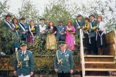 1991 Franz-Josef Beumer und Marion Beumer geb. Zabe  Hofstaat (v.l.): Antonius und Ulrike Beumer, Gregor und Anni Hülsmann, Richard und Monika Hollmann, Hubert und Klara Westbrock.