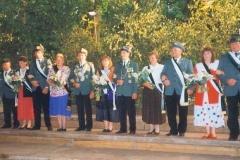 1992 Alois Puke und Agnes Puke geb. Laumann  Hofstaat (v.l.): Rolf und Annelies Bauhaus, Josef und Maria Markfort-Wiegert, Norbert und Anni Lüttecke, Bernhard und Hedwig Burlage.