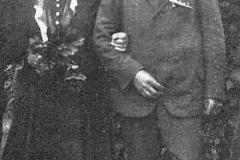 1930 Heinrich Heitmann (1871 - 1953) und Antonia Schulte Althoff geb. Hartmann (1879 - 1956)  Hofstaat: Max Sch. Althoff und Theresia Sch. Bisping geb. Revering, Heinrich Schulte und Anna-Maria Heitmann geb. Ltk, Vogelsang.