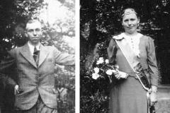 1938 Franz Niemann (1911 - 1985) und Paula Rösmann verh. Plinge (1913 - 1993)  Hofstaat: Bernhard Rösmann und Frl. Maria Niemann, Josef Peters und Sophia Peters
