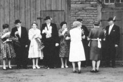 1962 Willi Markfort (1930 - 1986) und Maria Markfort geb. Sickmann  Hofstaat: Wilhelm und Hedwig Berning, Wilhelm und Maria Spielbrink.