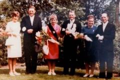 1968 Bernhard Mentzen und Martha Mentzen geb. Wietkamp  Hofstaat: Alfons und Hildegard Wendker, Hubert und Hedwig Schlautmann.