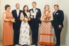1973 Bernhard Pohlmann (1939 - 1988) und Gerlinde Pohlmann geb. Wiltschka  Hofstaat: Wilhelm und Theresia Dumstorff, Werner und Ursula Pohlmann.