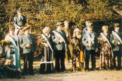 1980 Reinhold Hobeling und Agnes Burlage  Hofstaat: Laurenz und Claudia Gausepohl, Aloys und Anni Niemann.