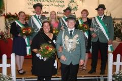 2014 Carsten Pohlmann und Christina Westemeyer  Hofstaat (v.l.): Christian und Bianca Ahlbrandt Christian und Ellen Pohlmann Stephan und Sonja Hesse